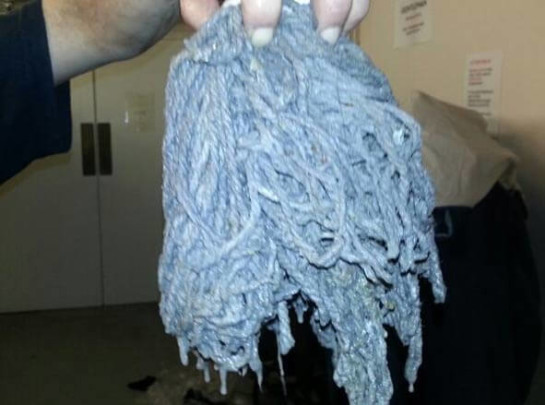Mop Head found in drain pipe